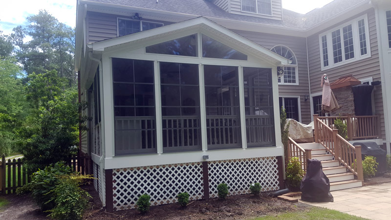 screened porch deck outdoor kitchen 1d